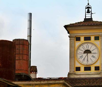Vecchia Cartiera Clock Tower