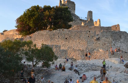 "Fortress ""Rocca"" of San Silvestro, concert for the 20th anniversary of the park by the Gabrieli Brass Quintet."