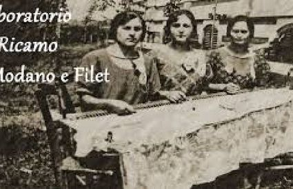 Students at the embroidery school
