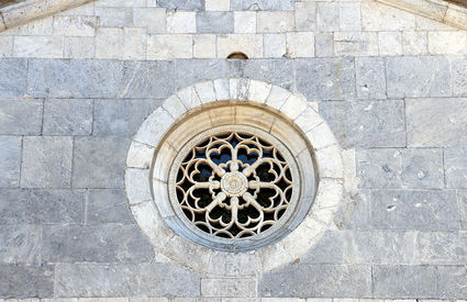 "The rose window of San Martino alla Cappella church, known as ""Michelangelo's Eye"""