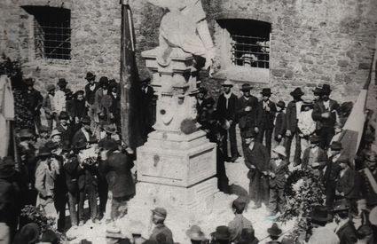 Unveiling of the monument to Garibaldi