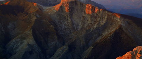 The Apuan Alps at sunset
