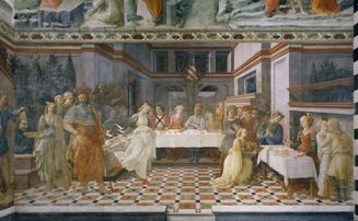Banchetto Salomè Prato Filippo Lippi