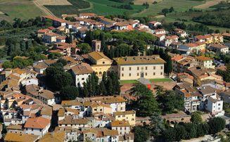 centro storico Cerreto Guidi dall'alto