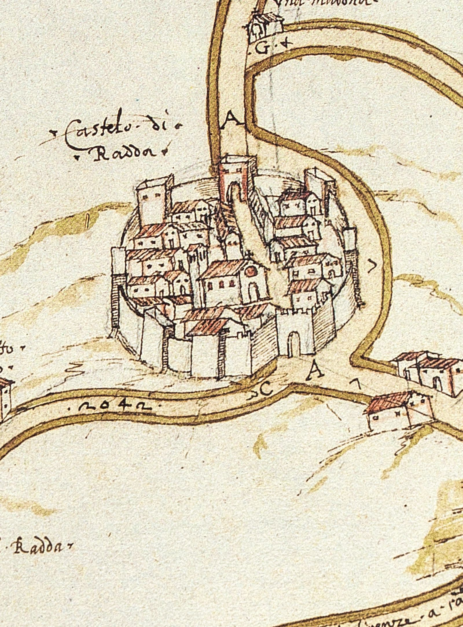 Radda in Chianti, mappa